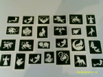 30 x mythology stencils (mixed) for glitter tattoos / airbrush tattoos / henna / cakes / etching / many other uses  fund raising girls boys